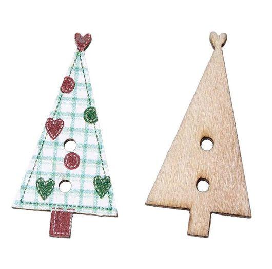 Шитье ручной работы. Ярмарка Мастеров - ручная работа. Купить Пуговицы деревянные Елка для шитья. Handmade. Пуговица, пуговицы