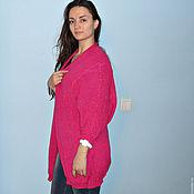 Одежда ручной работы. Ярмарка Мастеров - ручная работа Кардиган из хлопковой пряжи, 44-54 размер. Handmade.