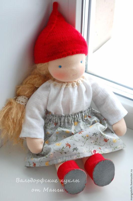 Вальдорфская игрушка ручной работы. Ярмарка Мастеров - ручная работа. Купить Фрейя, вальдорфская кукла (40 см). Handmade. Серый