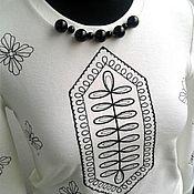 Кофты ручной работы. Ярмарка Мастеров - ручная работа Лонгслив с вышивкой. Handmade.