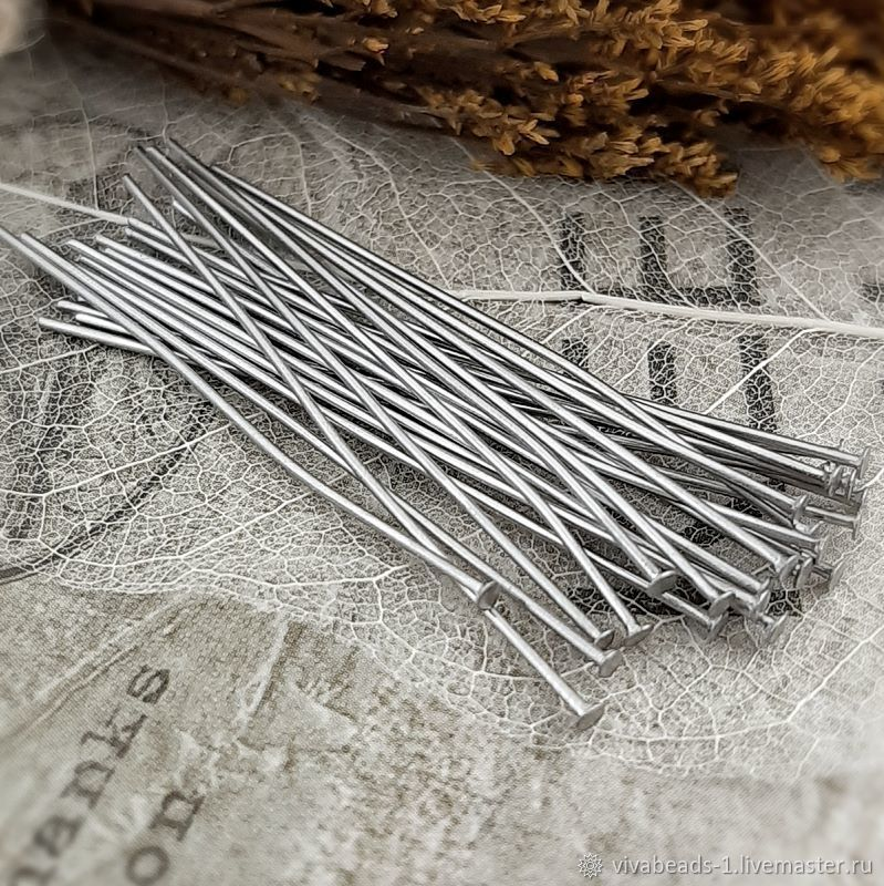 20 PCs. Pins 45h0,7, 3923 mm steel (), Accessories for jewelry, Voronezh,  Фото №1