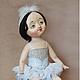 """Коллекционные куклы ручной работы. Ярмарка Мастеров - ручная работа. Купить """"Ах, балет..."""". Handmade. Голубой, белый, текстиль"""