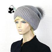 Аксессуары handmade. Livemaster - original item Luxury women`s hat made of Finnish mink fur on knitwear DF-93. Handmade.