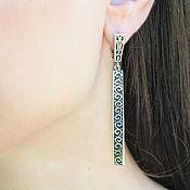 Украшения handmade. Livemaster - original item Modern 6 earrings made of 925 sterling silver DD0111. Handmade.