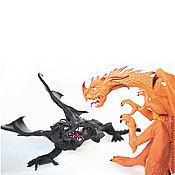 Куклы и игрушки ручной работы. Ярмарка Мастеров - ручная работа битва драконов. Handmade.