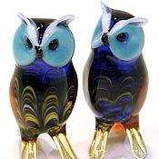 Для дома и интерьера handmade. Livemaster - original item Decorative figurine made of colored glass Owl Ulula. Handmade.