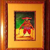"""Картины и панно ручной работы. Ярмарка Мастеров - ручная работа Акварель """"Арлекин"""". Handmade."""