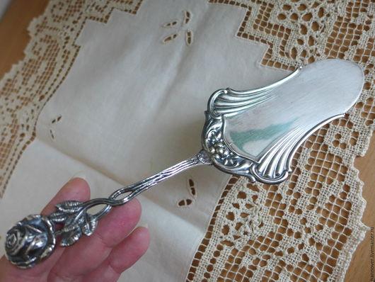 Винтажная посуда. Ярмарка Мастеров - ручная работа. Купить Массивная посеребренная лопатка для торта «Розита» немецкого дизайна «. Handmade.