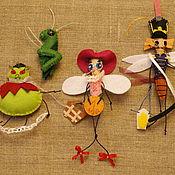 Куклы и игрушки ручной работы. Ярмарка Мастеров - ручная работа Фетровая игра ( Муха-цокотуха). Handmade.