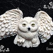 Украшения ручной работы. Ярмарка Мастеров - ручная работа Реалистичный кулон в виде совы. Handmade.
