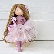 Куклы и пупсы ручной работы. Ярмарка Мастеров - ручная работа Девочка с фламинго! Интерьерная кукла. Handmade.
