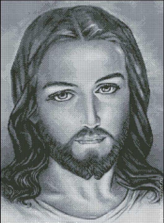 Иконы ручной работы. Ярмарка Мастеров - ручная работа. Купить Иисус. Handmade. Серый, ручная работа, багетная рамка