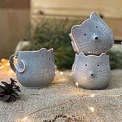 Чашки ручной работы. Ярмарка Мастеров - ручная работа Чашки мышки. Handmade.