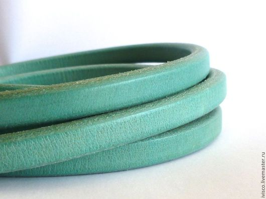 Для украшений ручной работы. Ярмарка Мастеров - ручная работа. Купить Кожаный шнур Регализ 10х6мм бирюзовый. Handmade.