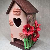 """Для дома и интерьера ручной работы. Ярмарка Мастеров - ручная работа Чайный домик """"Маки"""". Handmade."""