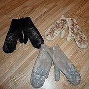 Аксессуары ручной работы. Ярмарка Мастеров - ручная работа рукавички шерстяные. Handmade.