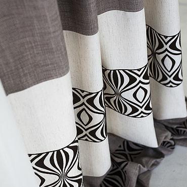 Текстиль ручной работы. Ярмарка Мастеров - ручная работа Шторы Амаретто. Handmade.