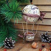 Для дома и интерьера ручной работы. Ярмарка Мастеров - ручная работа Елочная игрушка - Воздушный шар - На неделю моды.... Handmade.