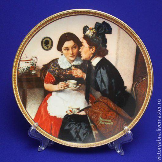 Винтажная посуда. Ярмарка Мастеров - ручная работа. Купить Тарелка KNOWLES, Edvin M.. Handmade. Комбинированный, фарфор
