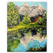 Картины и панно handmade. Livemaster - original item the picture Mountain landscape. Handmade.