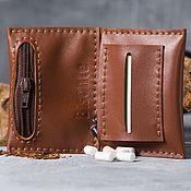 Сумки и аксессуары handmade. Livemaster - original item Pouch for roll-UPS leather. Handmade.