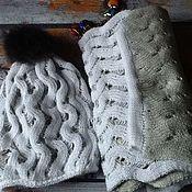 Одежда ручной работы. Ярмарка Мастеров - ручная работа Вязанная шапка и шарф. Handmade.