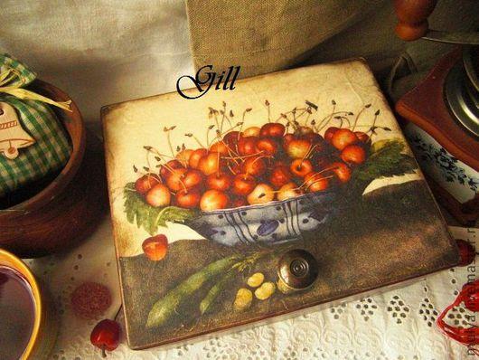 """Кухня ручной работы. Ярмарка Мастеров - ручная работа. Купить Чайная шкатулка """"Sweet cherry"""". Handmade. Чайная коробка, черешня"""