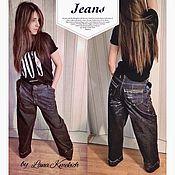 Одежда handmade. Livemaster - original item Womens jeans handmade