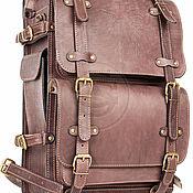 Сумки и аксессуары handmade. Livemaster - original item Mens leather backpack Legion brown. Handmade.