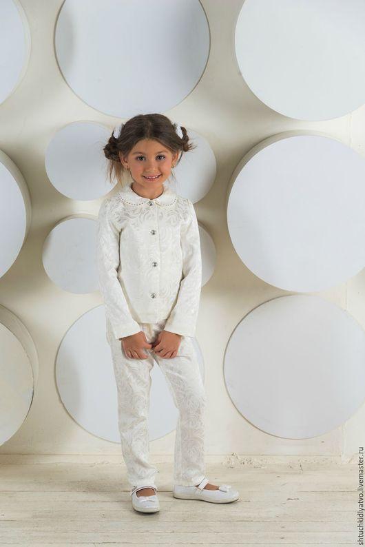 Одежда для девочек, ручной работы. Ярмарка Мастеров - ручная работа. Купить Костюм жаккардовый белый. Handmade. Белый, модная одежда