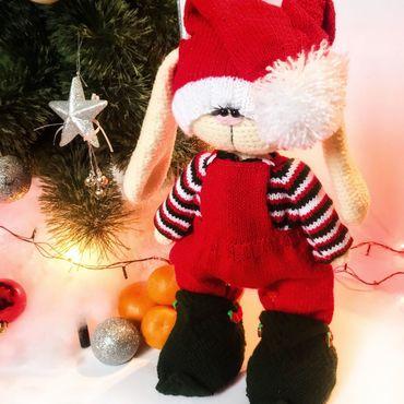 Куклы и игрушки ручной работы. Ярмарка Мастеров - ручная работа Новогодняя зайка Ноэль. Handmade.