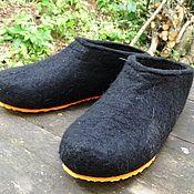 Обувь ручной работы. Ярмарка Мастеров - ручная работа Тапки валяные мужские из козьей шерсти, на богатыря! 47 размер. Handmade.