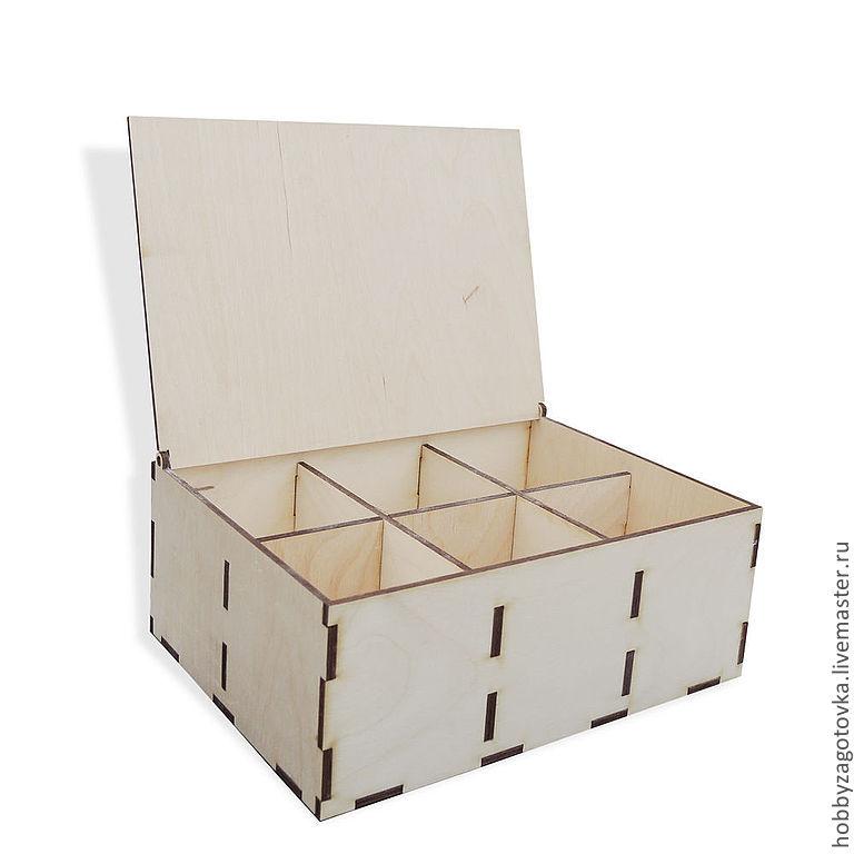 Коробка под чайные пакетики, 6 отдел. F-0199, Заготовки для декупажа и росписи, Ступино,  Фото №1