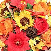 Цветы и флористика ручной работы. Ярмарка Мастеров - ручная работа Букеты и подарки к 1 сентября. Handmade.