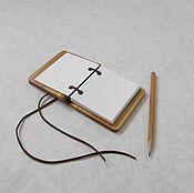"""Блокноты ручной работы. Ярмарка Мастеров - ручная работа Блокнот из дерева """"Рустик"""". Handmade."""