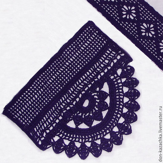 Пояса, ремни ручной работы. Ярмарка Мастеров - ручная работа. Купить Вязаный крючком комплект для платья. Handmade. Тёмно-фиолетовый