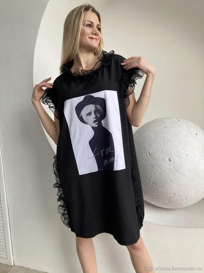 :Необыкновенное латье-футболка, Платья, Орехово-Зуево,  Фото №1