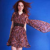 """Одежда ручной работы. Ярмарка Мастеров - ручная работа шелковое платье """"розовый сад"""". Handmade."""