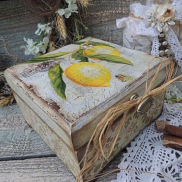 Для дома и интерьера ручной работы. Ярмарка Мастеров - ручная работа Чайная шкатулка Лимон. Handmade.