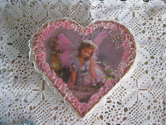 """Шкатулки ручной работы. Ярмарка Мастеров - ручная работа. Купить Шкатулка """" Сердце"""". Handmade. Розовый, шкатулка для мелочей, трафарет"""