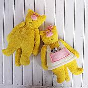 Куклы и игрушки ручной работы. Ярмарка Мастеров - ручная работа Котик и кошечка. Handmade.