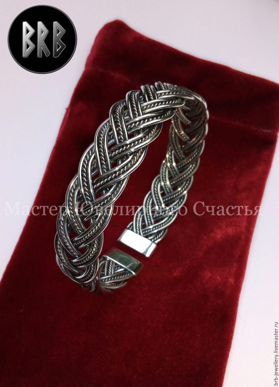 "Bracelet ""Aslaug"" sterling silver 925, Braided bracelet, Penza,  Фото №1"