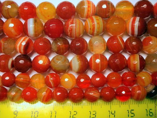 Для украшений ручной работы. Ярмарка Мастеров - ручная работа. Купить Сардоникс (2 цвета) 8,10,12 мм.. Handmade.