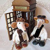 Куклы и игрушки ручной работы. Ярмарка Мастеров - ручная работа Шерлок и Ватсон. Handmade.