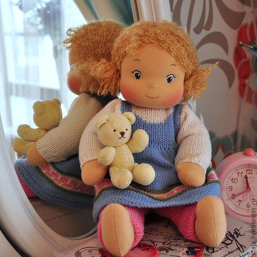 Коллекционные куклы ручной работы. Ярмарка Мастеров - ручная работа. Купить Малявка. Handmade. Голубой, любимая куколка, шерсть