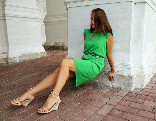"""Платья ручной работы. Ярмарка Мастеров - ручная работа. Купить Зеленое платье из тонкой шерсти класса """"люкс"""". Handmade."""