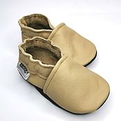 Работы для детей, handmade. Livemaster - original item Baby Shoes, Baby Moccasins, Leather Baby Shoes, Kids` Slippers. Handmade.