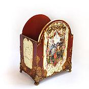 Канцелярские товары ручной работы. Ярмарка Мастеров - ручная работа Карандашница подставка в стиле барокко декупаж. Handmade.