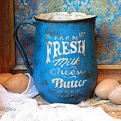 """Посуда ручной работы. Ярмарка Мастеров - ручная работа Молочник """"Fresh milk"""". Handmade."""