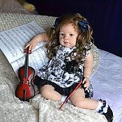 Куклы и игрушки ручной работы. Ярмарка Мастеров - ручная работа Луиза, юная скрипачка. Handmade.